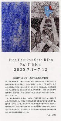 津田晴子・佐藤里帆展/二人展(2020年7月1日(水)~12日(日)
